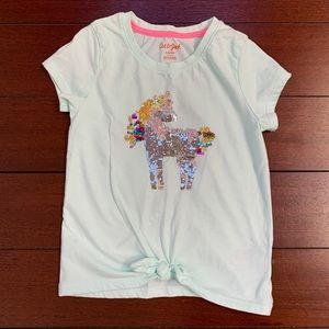 Cat & Jack Reversible Sequin Unicorn Tie Waist
